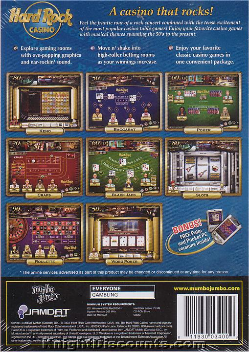 Hard rock casino players card inventory of gambling situations