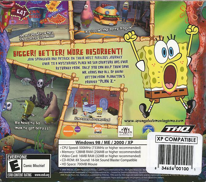 spongebob squarepants the movie pc game sponge bob new ebay