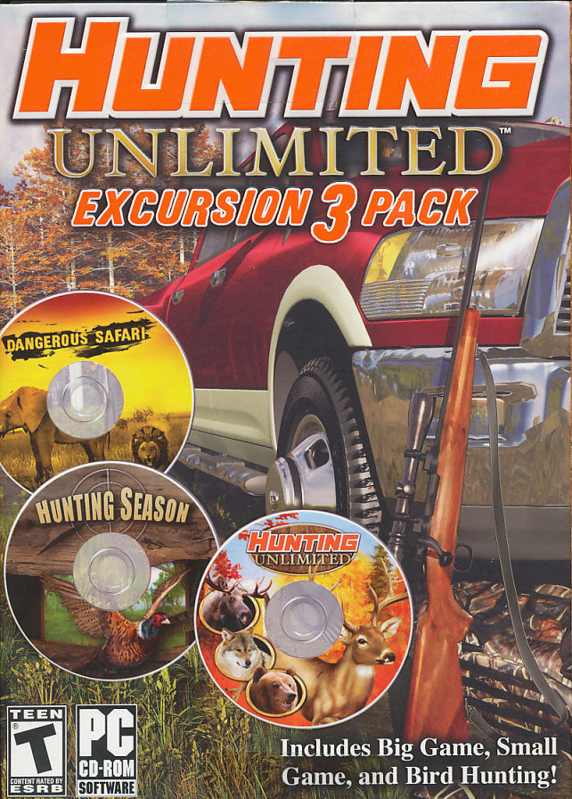 Sports And Imports >> HUNTING UNLIMITED EXCURSION 3 PACK - 3x Big Game & Bird Hunter PC Games - NEW! 755142733810 | eBay